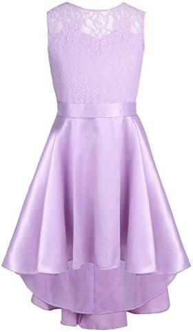 Freebily Kids Princess Dress Wedding Bridesmaid Birthday Party Flower Girls Dress Sleeveless product image