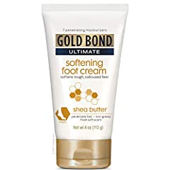INCLUDES: One (1) 4-oz. tube of Gold Bond Ultimate Softening Foot Cream With Shea Butter to Soften Rough Calloused Feet RESTORE AND MAINTAIN SKIN'S YOUTHFUL APPEARANCE: The unique silk peptide matrix is formulated with vitamins and shea butter to sof...