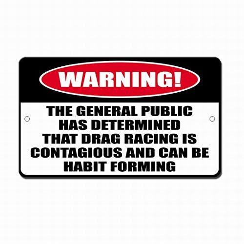 Placa de Advertencia de Metal con Forma de hábito y contagiosa, para decoración del hogar, 8 x 12 Pulgadas