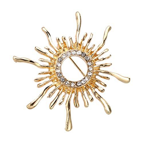 Holibanna Girasol Broches Collar Insignias Solapa Pin Hombres Traje Camisa Broche de Aleación Accesorios de Disfraz