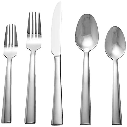 Oneida Madison Avenue 20 Piece Everyday Flatware, Service for 4, 18/0 Stainless Steel, Silverware Set