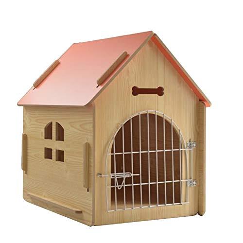 Casas Para Perros Caseta De Madera Maciza Cuatro Estaciones A Prueba De Viento Y Lluvia Casas Cuadradas Para Mascotas Casa De Madera Para Perros Con Puerta De Hierro Exterior Para Mascotas Pequeñas