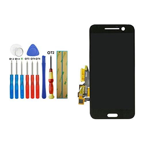 Tangzhi LCD Display Kompatibel mit HTC 10 One M10 M10U M10H Smartphone Schwarz