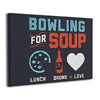 壁キャンバス アートワーク 30x40cm スープのボウリング Bowling For Soup ポスター おしゃれ インテリア 壁アート ウッドフレーム 装飾 おしゃれ な部屋飾り ギフト キャンバスアート アート油画 パネル ャンバス リビングと寝室の飾