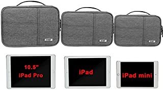 BUBM Electronic Organizer, Double Layer Electronic Bag for Cables, Plugs, External Hard Drive and Other Electronic Accessories (3 Pack/Gray)