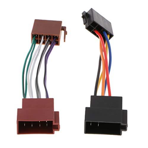Shiwaki ISO Radio Kabelbaum Adapter Stecker Für VW Stecker Auf Buchse