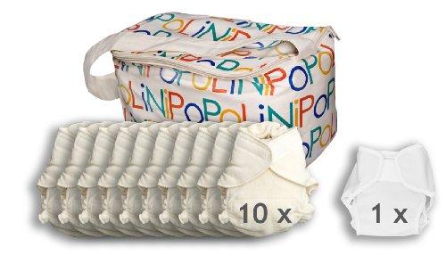 Popolini Windelset Ultrafit Organic 10x Windel + 1 Überhose
