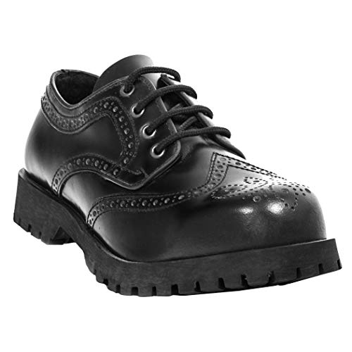 Boots & Braces Schuhe 4-Loch Budapester Schwarz, Schwarz, 38 EU
