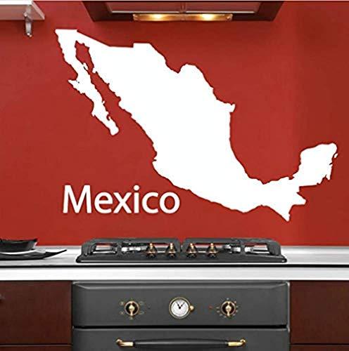 Goedkoopste eenvoudige omtrek Mexico kaart muursticker PVC lijm muursticker muurdecoraties woonkamer huisdecoratie 81X59Cm