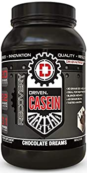 Driven Casein- 100% Micellar Casein Protein Powder with Added BCAA and Digestive Enzymes for Nighttime Muscle Recovery Chocolate Dreams