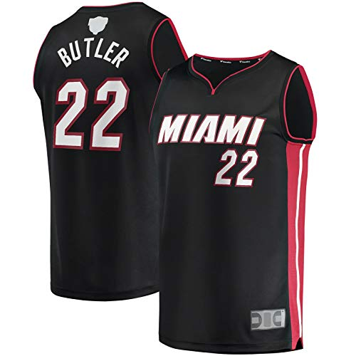 HFHDF Camiseta Baloncesto Jersey Custom Mesh #22 Finals Bound Fast Break Jersey Negro - Icon Edition