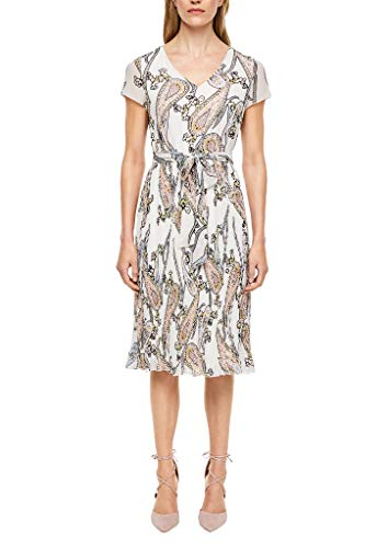 s.Oliver BLACK LABEL Damen kurz Kleid, 02A7 Paisley Print, 46