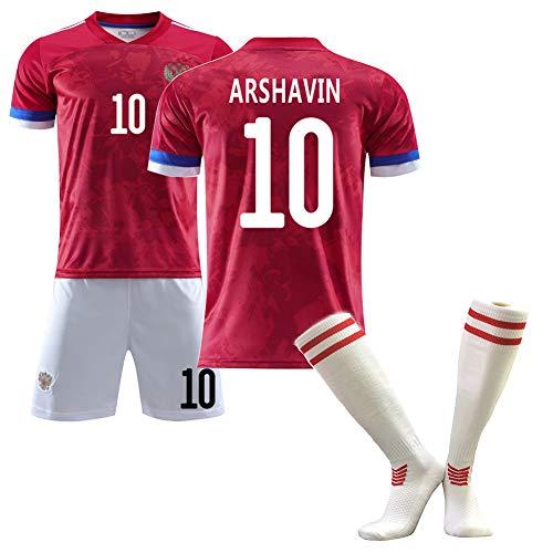 DFGH Fußballtrikot, Kokorin Arshavin Kerzhakov, Trikots des Russland 2020 (Heim), Fußballanzüge für Erwachsene und Kinder, anpassbar-10#-S