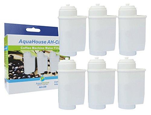 6x AquaHouse AH-CBI Kompatibel Wasserfilterpatrone für Bosch Neff Siemens Gaggenau Kaffeemaschinen TZ70003 TCZ7003 467873 575491