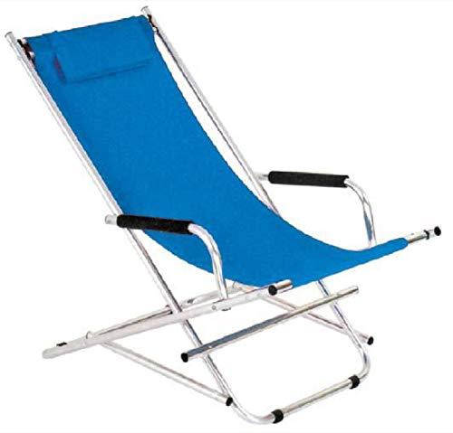 Sedia alluminio sdraio pieghevole blu