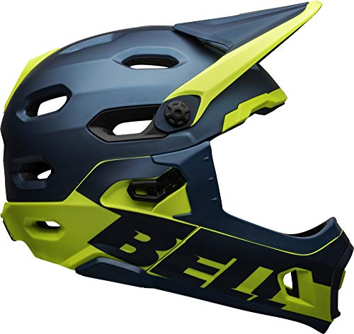 BELL Super DH MIPS Adult Mountain Bike Helmet - Matte/Gloss Blue/Hi-Viz (2021), Large (58-62 cm)