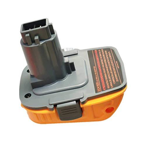Adaptador de batería de repuesto DCA1820 para herramientas Dewalt de 18 V/20 V NiCad&NiMh, batería de litio, convierte a taladro de níquel y cargador, herramientas adaptador para batería Dewalt