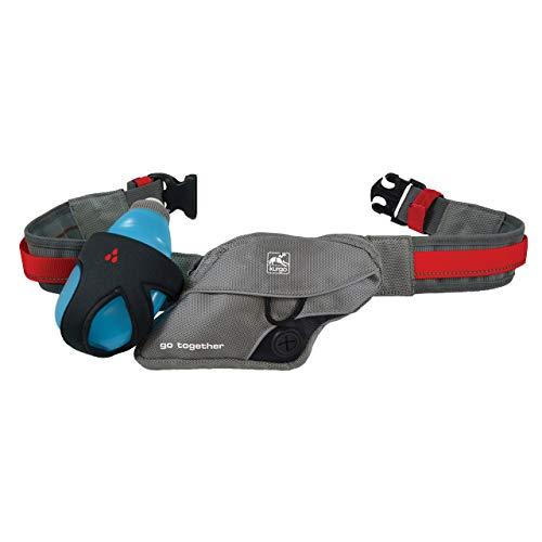 Kurgo K9 Ausflugsgürtel, Verstellbarer Hundelaufgürtel mit Poop Taschen Spender, Laufender Hundeleinengürtel, Freisprechender reflektierender Gürtel, zum Laufen, Gehen, Wandern, Kommt mit Leinenclips