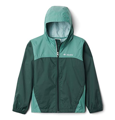Columbia Boys' Toddler Glennaker Rain Jacket, Waterproof & Breathable, Thyme Green/Spruce, 2T