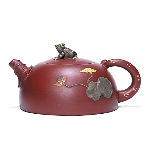 GYZD Tetera De Arcilla Morada China Tea Pot Yixing Purple Sand Mud West Pot Zhu Mud Kungfu Pot Ball Hole Filtering Domestic Tea Set