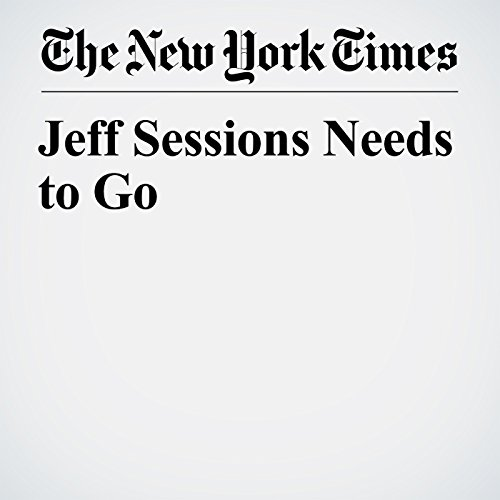 Jeff Sessions Needs to Go copertina