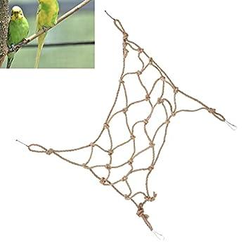 Zopsc-1 Filet d'escalade pour Animaux de Compagnie, échelle de Corde d'escalade pour Oiseaux Solide avec Quatre Crochets Fixes pour perroquets pour Hamsters(S)