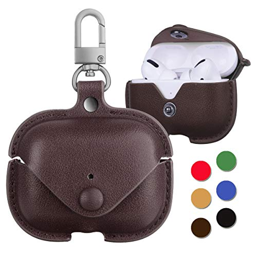 Leather Case for AirPods Pro with Keychain, Protective Case Cover Skin for AirPods 3 Charging Case...