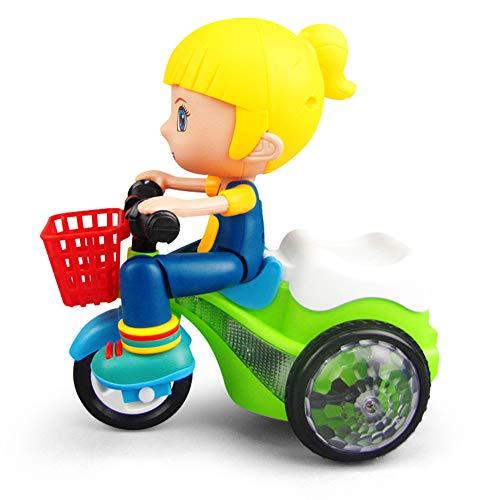 Giytoo elektrische driewieler speelgoed met muziek licht 360 graden rijden batterij aangedreven