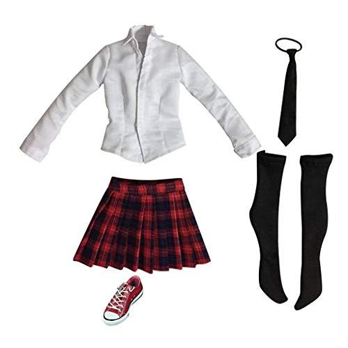 ZSMD 1/6 12'' Figura de acción de la ropa roja mini falda...