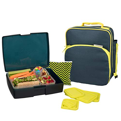 Product Image of the Bentology Lunch Bag and Box Set for Boys, 9 Pieces Total - Kids Insulated...