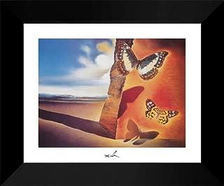 Paysage Aux Papillon 15x18 Framed Art Print by Salvador Dali