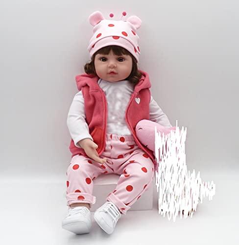 """iCradle Reborn - Bambola realistica in silicone morbido per bambini, in vinile, con bocca magnetica (18"""")"""
