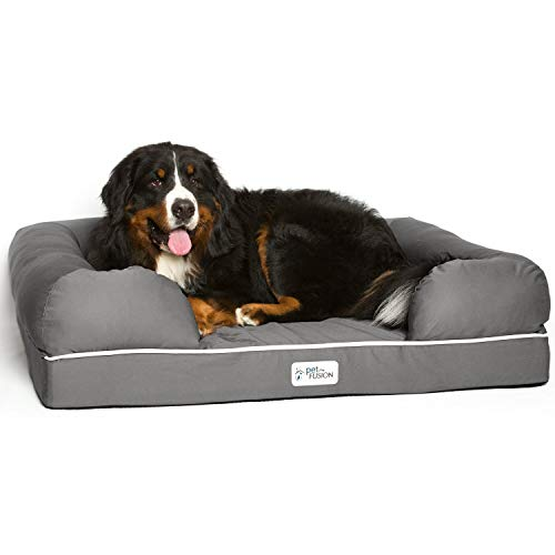 PetFusion Ultimate Solid 4' Memory Foam Dog Bed for X Large Dogs (44x34x10' orthopedic sofa couch;...