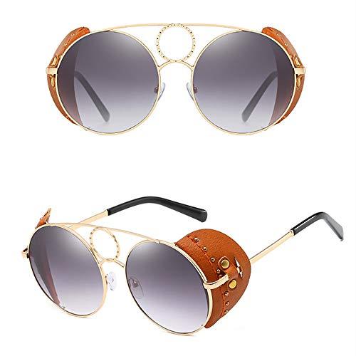 WOXING Tendencia Gafas,Ligeras Metal Antideslumbrantes Gafas De Sol,Moda Aire Libre Deportes Viajes Conducir Gafas,Mujere Mujer Gafas-Gris 14.3x5.7cm(6x2inch)