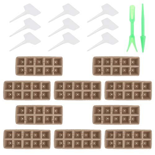 Cabilock Bandejas de Plántulas para Plantas Y Viveros Tazas de Pulpa para Plantar Semillas Kit de Bandeja de Inicio Macetas de Jardín 12 Unidades