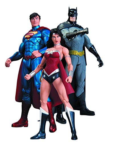 DC Comics New 52 Batman Wonder Woman Superman 3 Pack