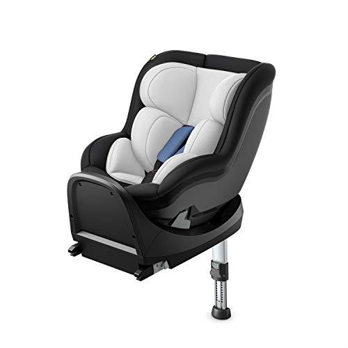 Hauck iPro Kids Set i-Size Reboard Kindersitz ab Geburt bis 18 kg mit Isofix Basis, mitwachsender Baby Autositz entgegen der Fahrtrichtung, mit Neugeborenen Einlage, denim