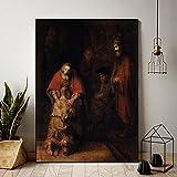 GEGEBIANHAOKAN Leinwandbilder Rembrandt BerüHmte Rembrandt