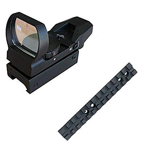Tactical 4 Reticle Red Dot Open Reflex Sight With Weaver Pica Tinny Rail Mount With Mossberg 500/590 Tactical Rail