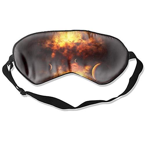 Roter Nebel vor dem Sun-Druck-Schlaf-Masken-Licht, das weiche Augenbinde für Hauptreise blockiert
