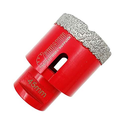 SHDIATOOL Dry Diamond Drill Core Bit Diameter 45mm Vacuum Brazed Drilling Porcelain Tile Granite Marble