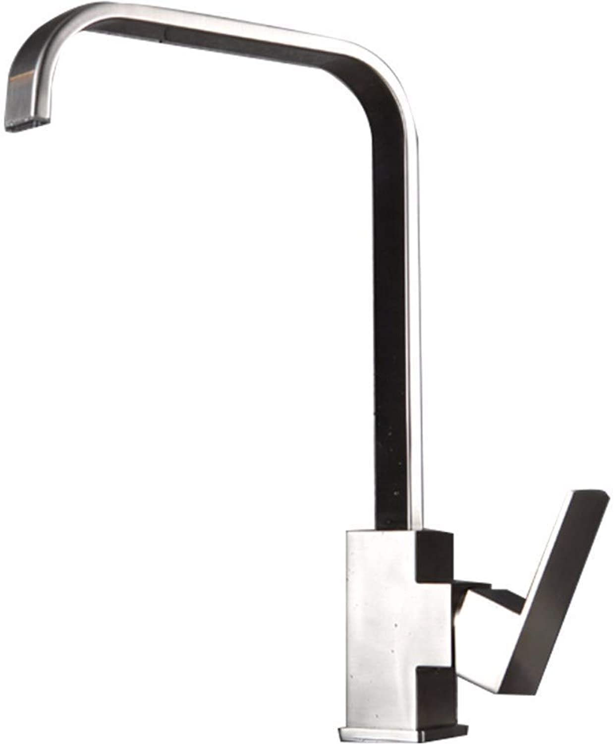 Basin Taps Swivel Spout Faucet Square Faucet Hot and Cold Water Kitchen Console Sink Stainless Steel Faucet