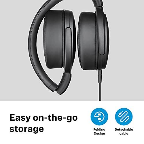 Sennheiser HD 400S Kopfhörer mit geschlossener Rückseite, um das Ohr herum mit Einer Taste Smart Fernbedienung auf abnehmbarem Kabel