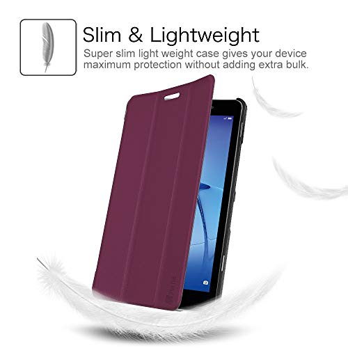 Fintie Huawei Mediapad T3 8 Hülle Case - Ultra Dünn Superleicht SlimShell Ständer Cover Schutzhülle Tasche mit Zwei Einstellbarem Standfunktion für Huawei T3 20,3 cm (8,0 Zoll), Lila - 3