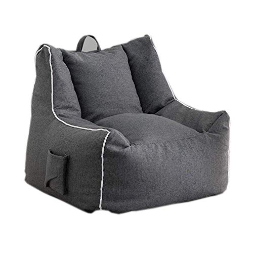 NBVCX Home Furnishing Decoration Gray Bean Bag Sofa Single Fabric Sofa Creative Practical Home Chair Removable and Washable Design (Size : XL)
