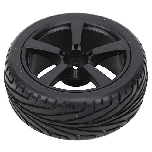 Keenso Cubo de Rueda de Coche RC de 4 Piezas, neumáticos de Goma con Control Remoto con Llantas de plástico, neumáticos de 5 radios para Coche RC 1/10