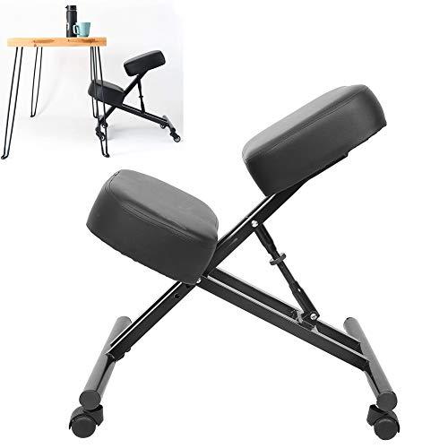 Ausla Sedia ergonomica per computer, sedia per ginocchia, migliora la tua postura seduto fino a 265 libbre per meditazione, lavorare con computer e giochi di cucitura, 68 x 58 x 47 cm