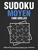Sudoku moyen 1000 grilles avec solutions: Livre Sudoku pour Adultes, Entraîne la Mémoire et la Logique, Solutions à la Fin, 21.59 x 27.94 cm, 213 pages