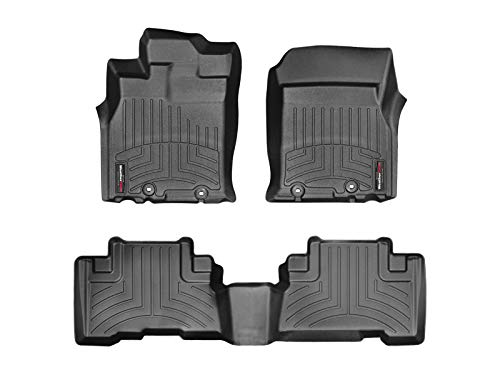 Weathertech FloorLiner kompatibel für Toyota FJ Cruiser Automatik (Details) 2011-14|Schwarz|1. und 2. Reihe