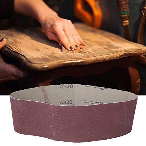Filfeel wosume Bandas de Lijado, Banda de Lijado de 533x75 mm Banda abrasiva de 21x3 Pulgadas para lijadora de Banda Piezas 240-1000 Grano 10 Piezas(320#)